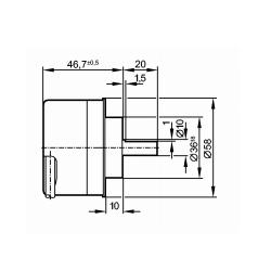 IFM 易福门 RV6100 增量式编码器