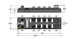 Turck 图尔克 TBDP-L2-8DIP-8DOP 电缆及适配器