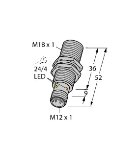 Turck 图尔克 BI5U-M18-AP6X-H1141 电感式接近开关