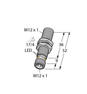 Turck 图尔克 BI2-M12-AP6X-H1141 电感式接近开关
