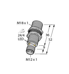 Turck 图尔克 BI8U-MT18-AP6X-H1141 电感式接近开关