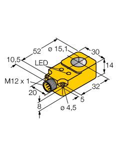 Turck 圖爾克 BI15R-Q14-AP6X2-H1141 電感式接近開關