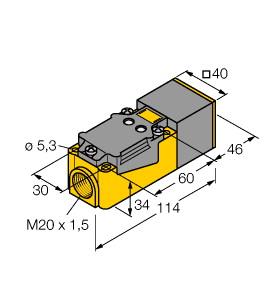 Turck 图尔克 NI20NF-CP40-VP4X2 电感式接近开关