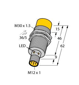 Turck 图尔克 NI30U-M30-AN6X-H1141 电感式接近开关