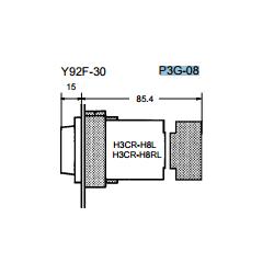 Omron 欧姆龙 P3G-08 安装配件