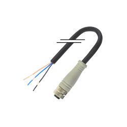 M8/3芯/母头/直头/2米/PVC (MD-M0803MZ-02000-PVC)