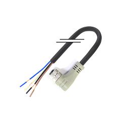 M8/4芯/母頭/彎頭/2米/PVC (MD-M0804MW-02000-PVC)