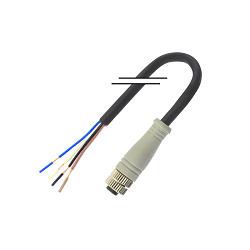 M8/4芯/母頭/直頭/2米/PVC (MD-M0804MZ-02000-PVC)
