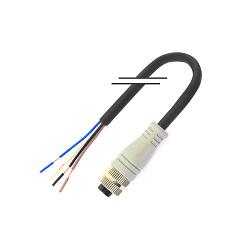 M12/4芯/母頭/直頭/2米/PVC (MD-M1204MZ-02000-PVC)